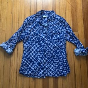 Linen Charter Club Button Down